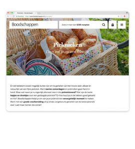 boodschappen.nl inspiratiepagina